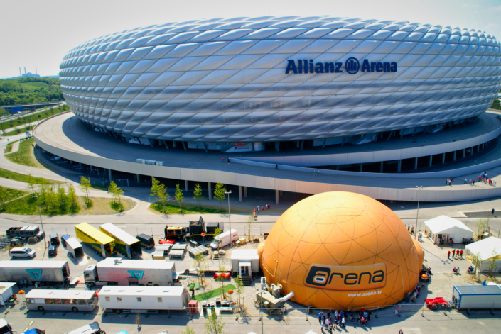 NRG Projekt messebau messe messestand messebauer messebaufirmen messebaufirma messestand bauen allianz arena